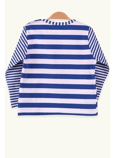 Breeze Erkek Çocuk Uzun Kollu Kalın Tişört Yakası Çizgili Mavi (1.5-4 Yaş) Mavi